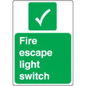 Safe Safety Sign - Fire Escape Light 098